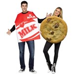 Adult Photo Real Milk & Cookies Couples Costume