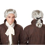 Mens 18th Century Grey Peruke White Costume Wig