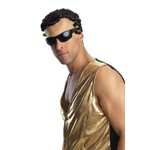 Mens MC Hammer Costume Wig for Rap Star Costume