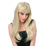 Platinum Blonde Long Sexy Glamour Girl Wig for Costume