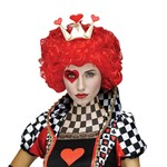 Womens Renaissance Queen of Hearts Costume Wig
