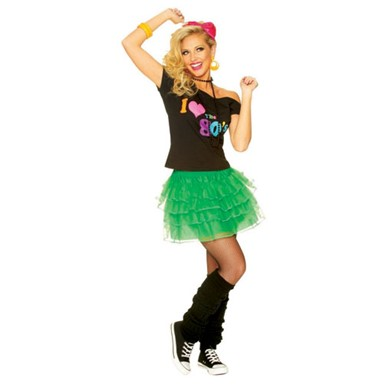 80's Green Petticoat Costume Accessory
