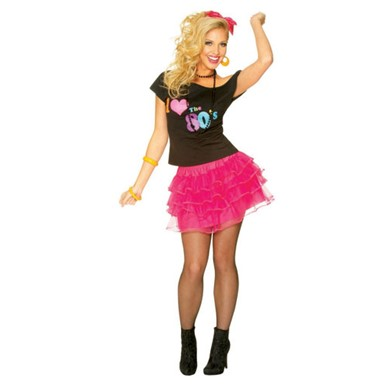 80's Hot Pink Petticoat Costume Accessory