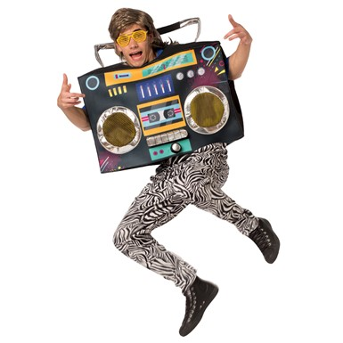 Adult Boombox Tunic 80s Costume