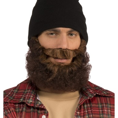 Adult Brown Lumberjack Beard Costume Accessory