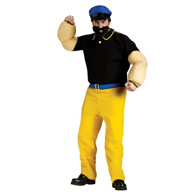 Adult Brutus Costume Popeye Cartoon Character Size STD