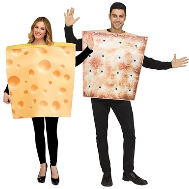 Adult Cheese & Cracker Couples Costume