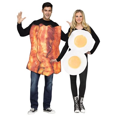 Adult Couples Bacon & Eggs Halloween Costume