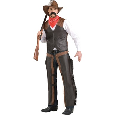 Adult Cowboy Chaps Halloween Costume Accessory