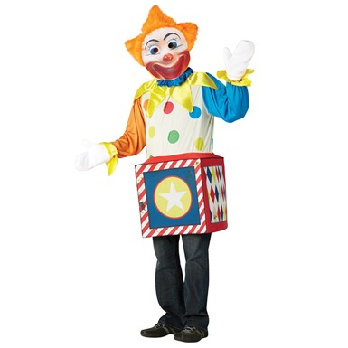 Adult Creepy Clown in the Box Halloween Costume