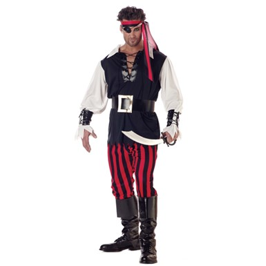 Adult Cutthroat Pirate Mens Halloween Costume