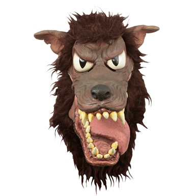 Adult Deluxe Big Bad Wolf Moving Mouth Mask