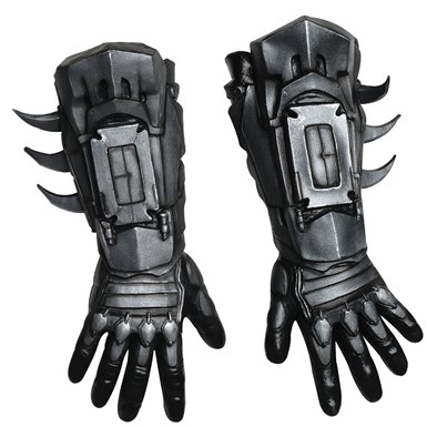 Adult Deluxe Black Batman Costume Gloves