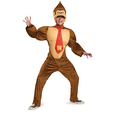 Adult Deluxe Donkey Kong Super Mario Costume
