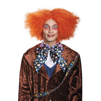Adult Deluxe Mad Hatter Costume Orange Wig