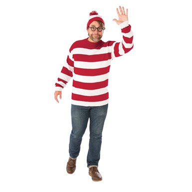 Adult Deluxe Waldo Plus Size Where's Waldo Big & Tall Costume