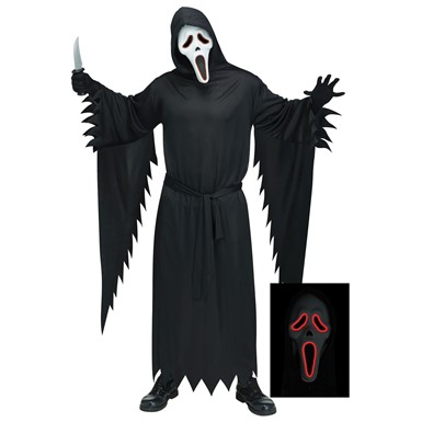 Adult E.L. Ghostface Scream Halloween Costume