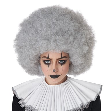 Adult Gray Jumbo Afro Wig for Clown Costume
