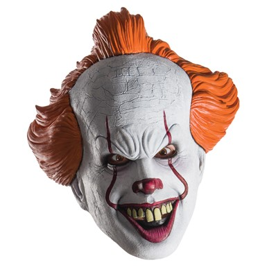 Adult IT Pennywise Clown Costume 1/2 Mask