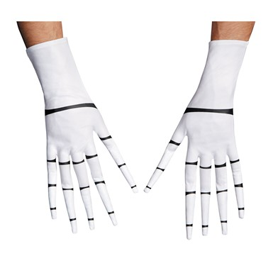 Adult Jack Skellington Skeleton Gloves
