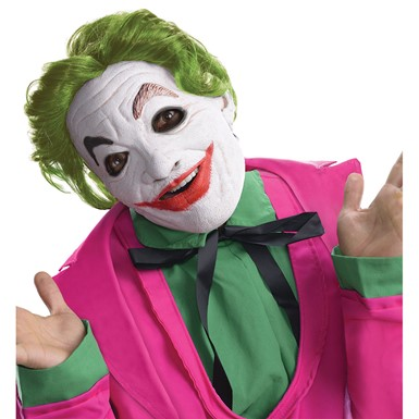 Adult Joker Foam Latex Halloween Mask With Hair
