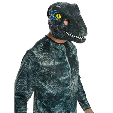 Adult Jurassic World Blue Velociraptor Movable Jaw Mask