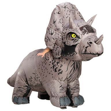 Adult Jurassic World Inflatable Triceratops Standard Costume