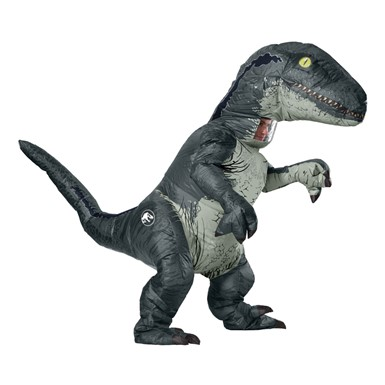 Adult Jurassic World Inflatable Velociraptor Costume with Sound Box