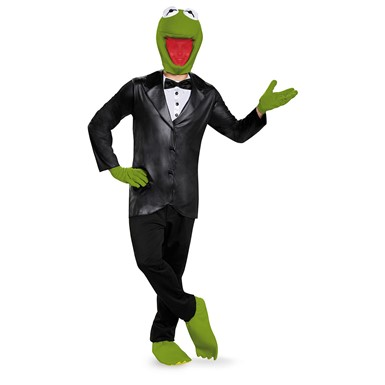 Adult Kermit the Frog Deluxe Muppets Costume