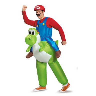 Adult Mario Riding Yoshi Inflatable Costume Size Standard