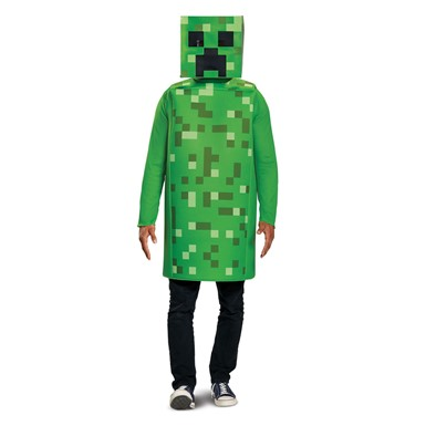 Adult Minecraft Classic Creeper Halloween Costume