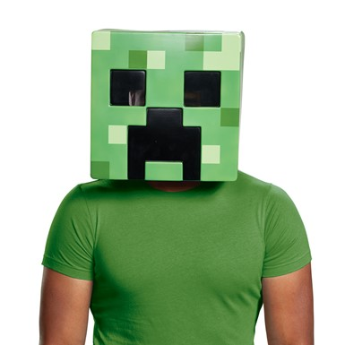 Adult Minecraft Creeper Vacuform Halloween Mask