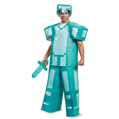 Adult Minecraft Prestige Armor Halloween Costume