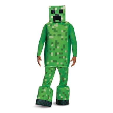 Adult Minecraft Prestige Creeper Halloween Costume