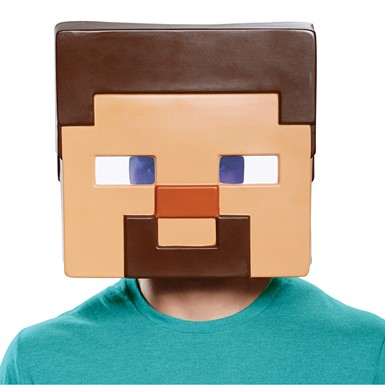 Adult Minecraft Steve Vacuform Halloween Mask