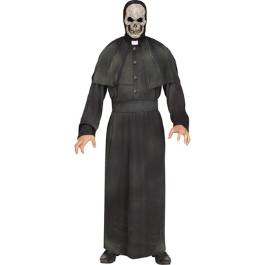 Adult Minister of Mayhem Scary Religious Priest Costume