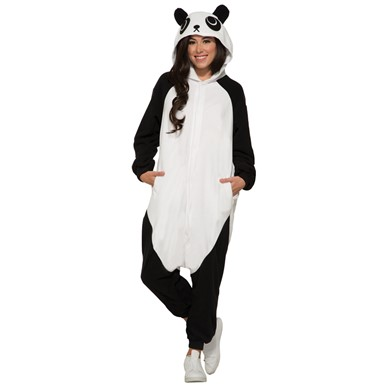 Adult Panda Jumpsuit Halloween Costume