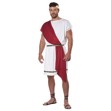 Adult Party Toga Greek 2-in-1 Halloween Costume