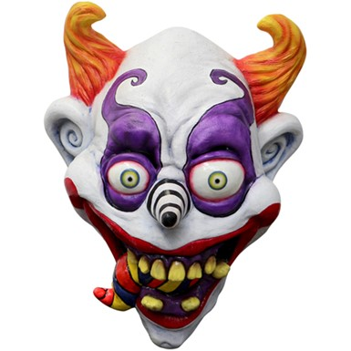 adult psychedelic clown latex mask