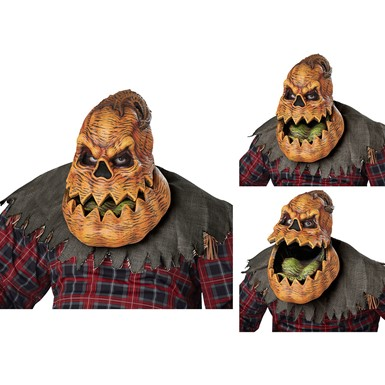 Adult Psycho Lantern Ani-Motion Pumpkin Mask