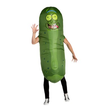 Adult Rick and Morty Inflatable Pickle Rick Costume