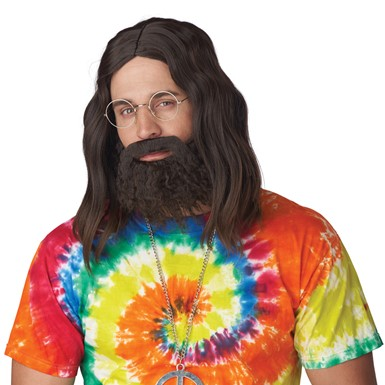 Adult Roll It Up Wig & Beard Cheech & Chong Costume