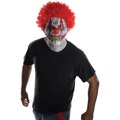 Adult Skullie Clown Costume Mask & Afro – Scary Clown Mask