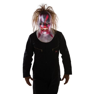 Adult Slipknot Scary Clown Full Mask with Hair