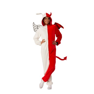 Adult Unisex Angel/Demon Comfy Wear One Piece Jumpsuit Costume