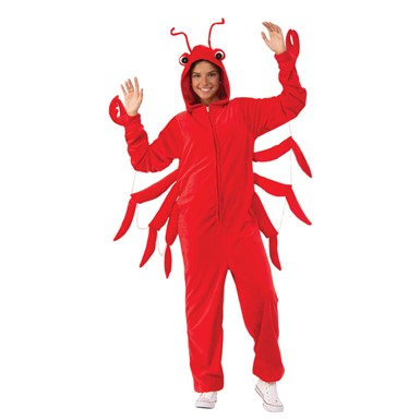 Adult Unisex Lobster Comfy Wear One Piece Jumpsuit Costume