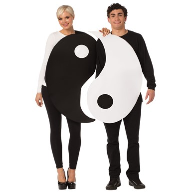 Adult Yin & Yang Symbol Couples Costume