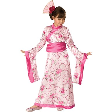 Asian Princess Pink Kimono Child Halloween Costume
