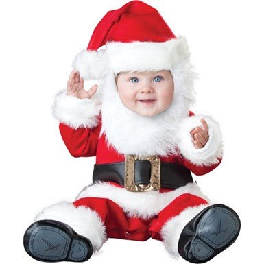Baby Santa Holiday Christmas Halloween Costume
