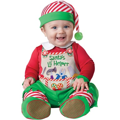 Baby Santa's Little Helper Christmas Costume